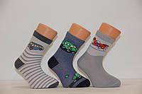 Детские носки средние с хлопка  для малышей Стиль люкс  12-14  396 автобус,машина,самолет