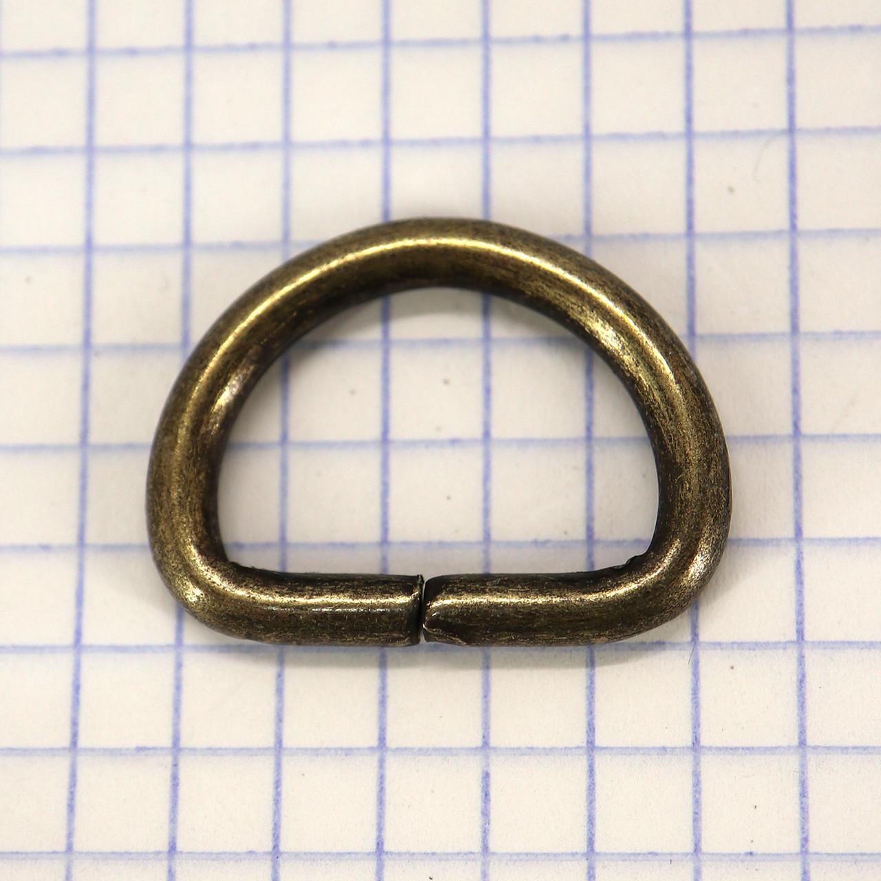 Полукольцо 20 мм антик 20*14*3,5 для сумок t4232 (40 шт.)