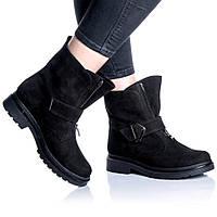 Ботинки Rivadi 2254 36(23,4см) Черный нубук, фото 1