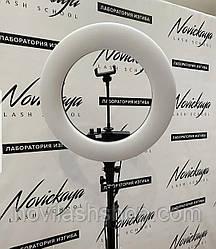 Кольцевая лампа SY-3161 (Special Edition) (напольная) для косметологии, наращивания ресниц (без регулировки)