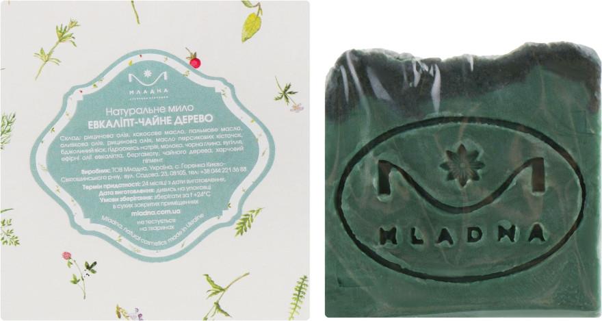 Натуральное мыло для тела «Эвкалипт - чайное дерево» 100 г. Младна