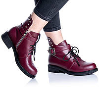 Ботинки Rivadi 2255 36(24 см) Бордовая кожа, фото 1