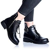 Ботинки Rivadi 2255 36(24 см) Черная кожа, фото 1