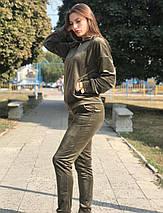 Спортивный костюм женский BR-S велюровый хаки 46 р. (1260674783), фото 3