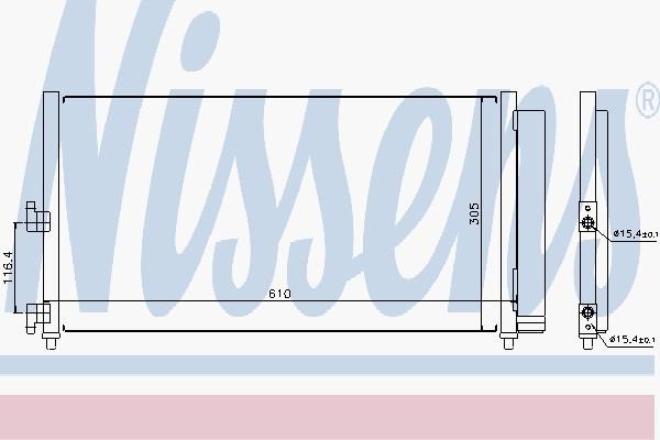 Радиатор кондиционера FIAT DOBLO (119, 223) (01-) 1.9 JTD (производство Nissens) (арт. 94727), rqm1