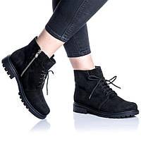 Ботинки Rivadi 2262 36(23,4см) Черная замша, фото 1