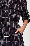 Женская удлиненная теплая рубашка в стиле oversize (Черная), фото 4