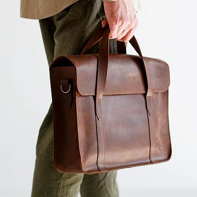 Мужская сумка из натуральной кожи коричневого цвета. Мужская сумка для ноутбука. Чоловіча сумка із шкіри
