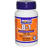 Тиамин 100 мг, витамин В-1, 100 таблеток из США, купить, цена, отзывы