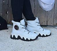 Ботинки натуральная кожа белые, фото 1