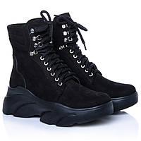 Ботинки La Rose 2270 36(23,4см) Черный нубук, фото 1