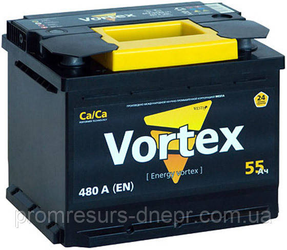 Аккумулятор автомобильный 6СТ-55 Vortex
