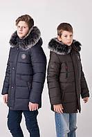Удлиненная зимняя куртка на мальчика размеры 130-165, фото 1