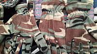 Перчатки ( флисовые камуфляж )