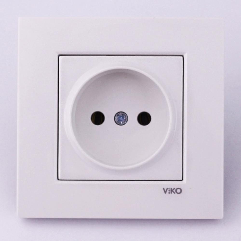 Розетка электрическая VI-KO Karre скрытой установки одинарная без заземления (белая)