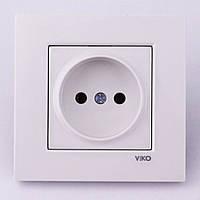 Розетка электрическая VI-KO Karre скрытой установки одинарная без заземления (белая), фото 1