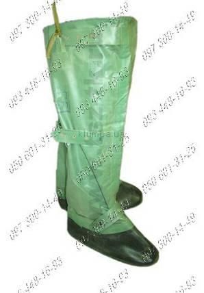 Бахилы озк Прорезиненные чулки Рост 2. Ткань бцк Цвет: зеленый Бахилы с проклеенными швами Размер: 43-44 , фото 2