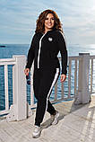 Модный женский спортивный костюм,размеры:48-50,52-54,56-58., фото 2