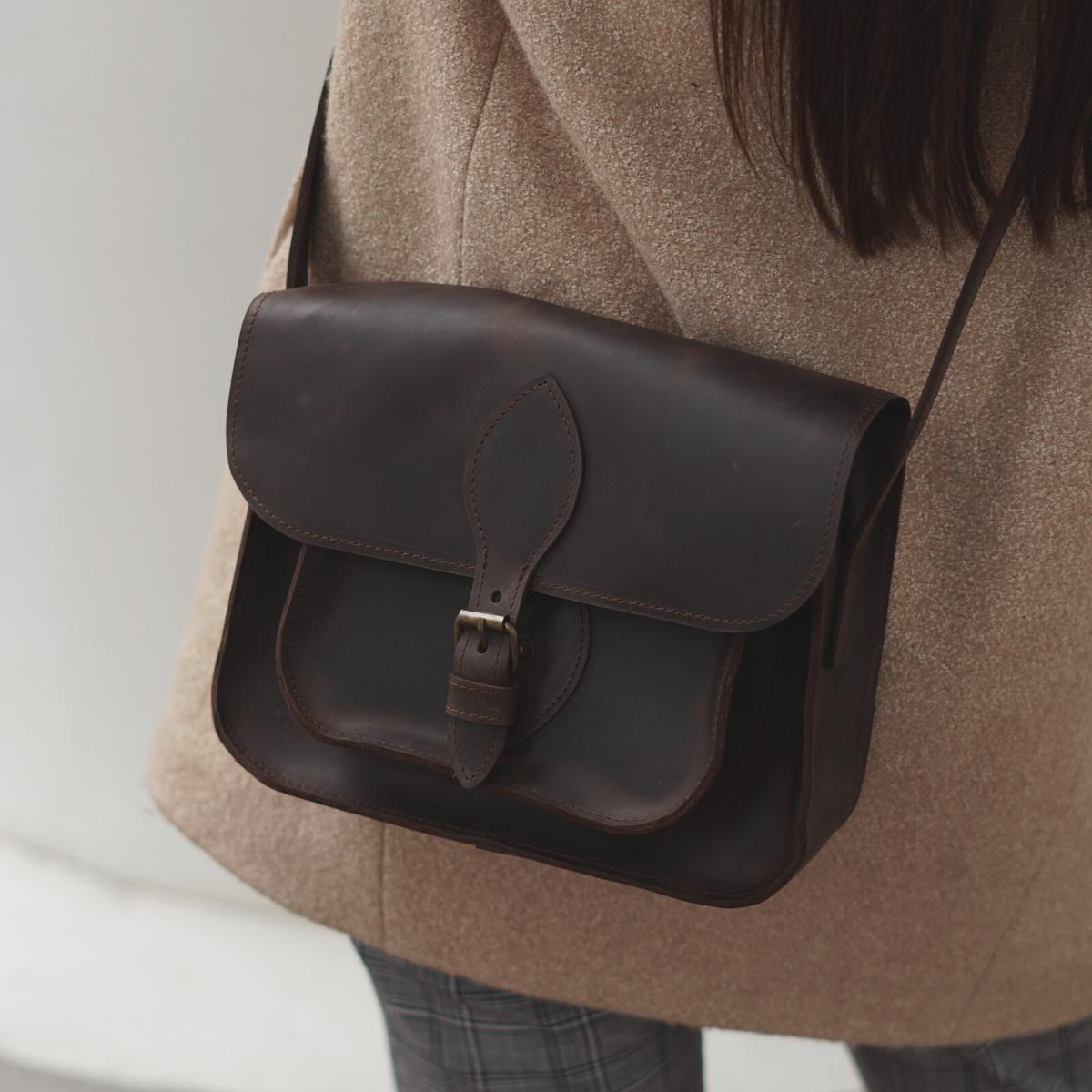 Жіноча шкіряна сумка коричневого кольору. Жіноча сумка ручної роботи.Жіноча шкіряна сумка.Жіноча сумка кожана