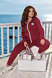 Модный женский спортивный костюм,размеры:48-50,52-54,56-58., фото 3