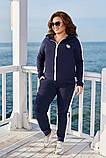 Модный женский спортивный костюм,размеры:48-50,52-54,56-58., фото 4