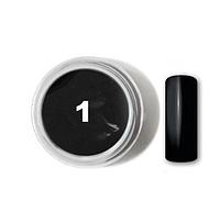Цветной гель Velena №1 Черный, 5 мл