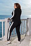 Модный женский спортивный костюм,размеры:48-50,52-54,56-58., фото 6