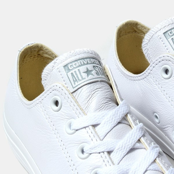 Кожаные кеды Converse all star Leather в белом цвете fc475726500cb