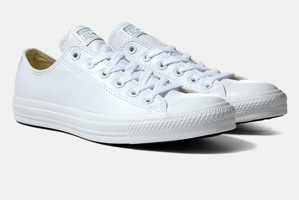 ... Кожаные кеды Converse all star Leather в белом цвете 1c46827c9b61c