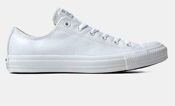 Кожаные кеды Converse all star Leather в белом цвете - Интернет магазин  обуви «im- dcf32dd346502