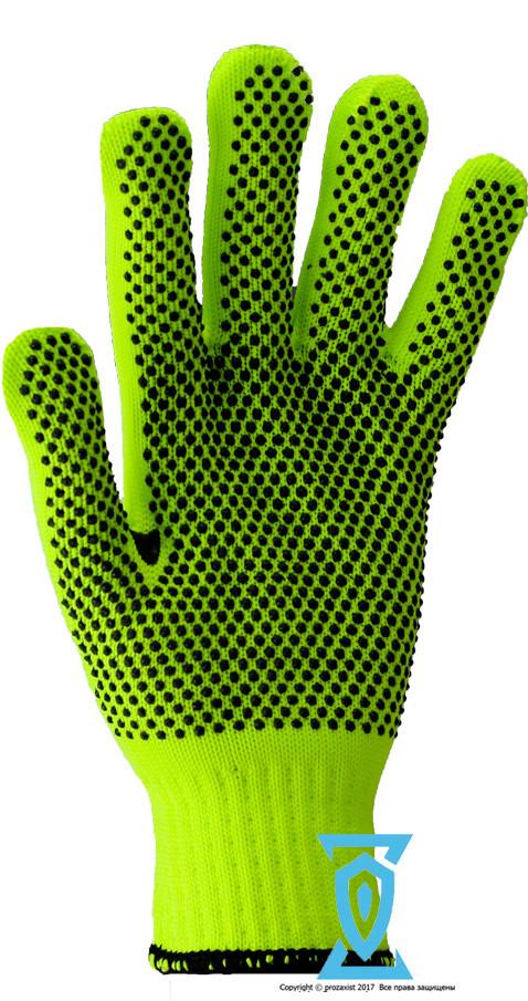 Перчатки рабочие синтетика салатовая с пвх покрытием (Польша)