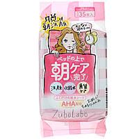 Sana, Zubolabo, очищающее средство для лица с лосьоном, 35 салфеток.