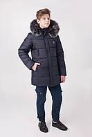 Теплая удлиненная зимняя куртка на подростка  размеры 130-165