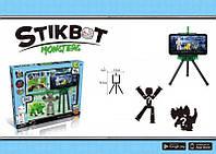 Анимационная студия (1 человек, 1 динозавр) Стикбот Монстр Stikbot Monsters JM-03R