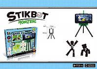 Анимационный набор (2 человека, 3 животных) Стикбот Монстр Stikbot Monsters JM-03N