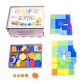 Развивающая игра «Цветное квадро домино», Розумний Лис
