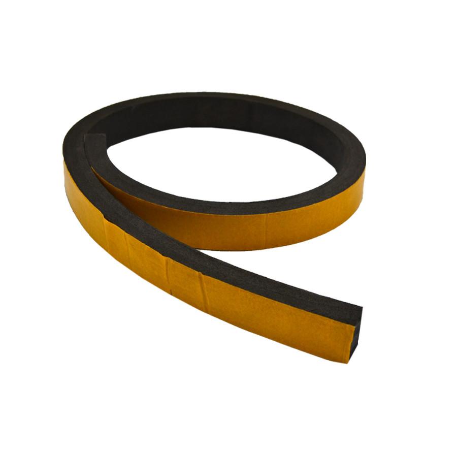 Лента уплотнительная самоклеющаяся резиновая RZ 0330, 3х30 мм, EPDM, для металлических дверей