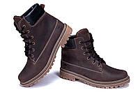 Мужские зимние кожаные ботинки Timderlend Crazy Shoes Chocolate (реплика). Кроссовки, спортивные ботинки