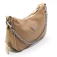 Коричневая женская сумка через плечо текстильная кросс-боди маленькая pd-6679, фото 1