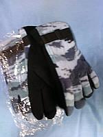 Перчатки флисовые комуфлированые.