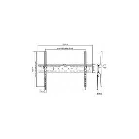 Наклонный кронштейн для телевизоров 60-100 диагонали Maclean MC-750  (max VESA: 900x600), фото 2