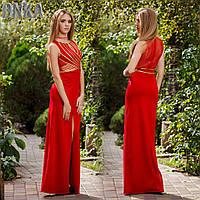 Платье вечернее длинное красное Серпантин