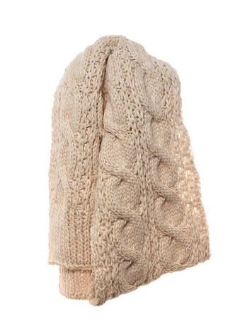 Красивый оригинальный теплый вязаный шарфик от Pawonex., фото 2