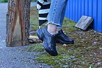 Кроссовки женские черные натуральная кожа, фото 1