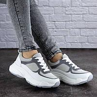 Женские кроссовки белые с серым 1981, фото 1