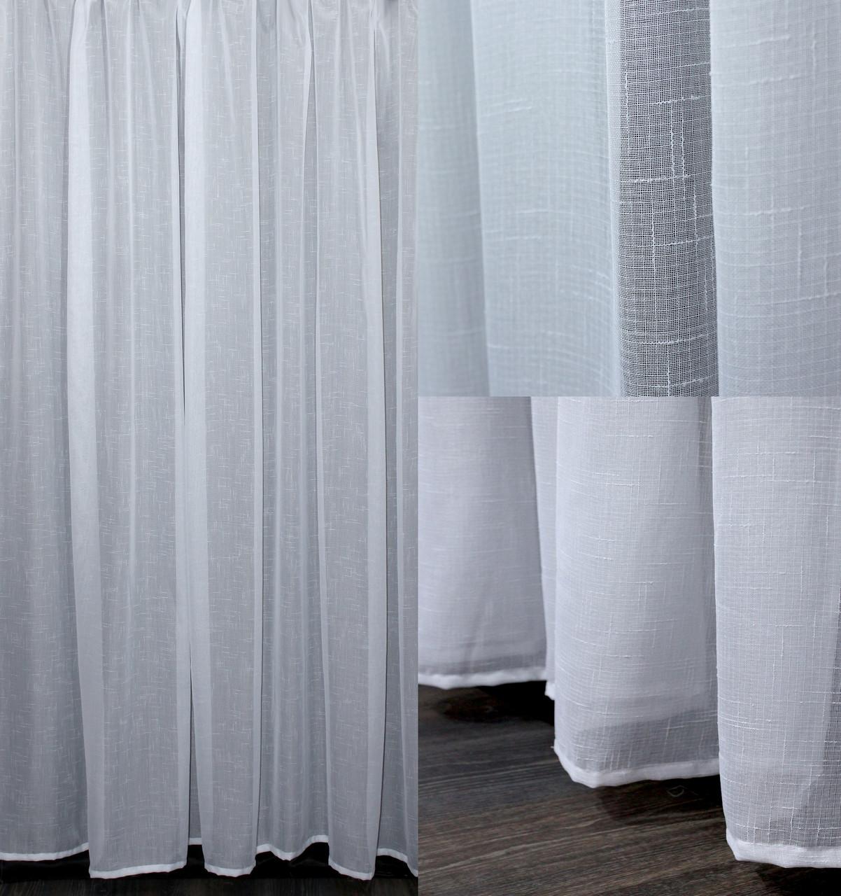 Тюль под лен с утяжелителем цвет белый арт 10013 где можно купить маркер для ткани