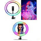 Кольцевая LED лампа для селфи MJ20 RGB, фото 3