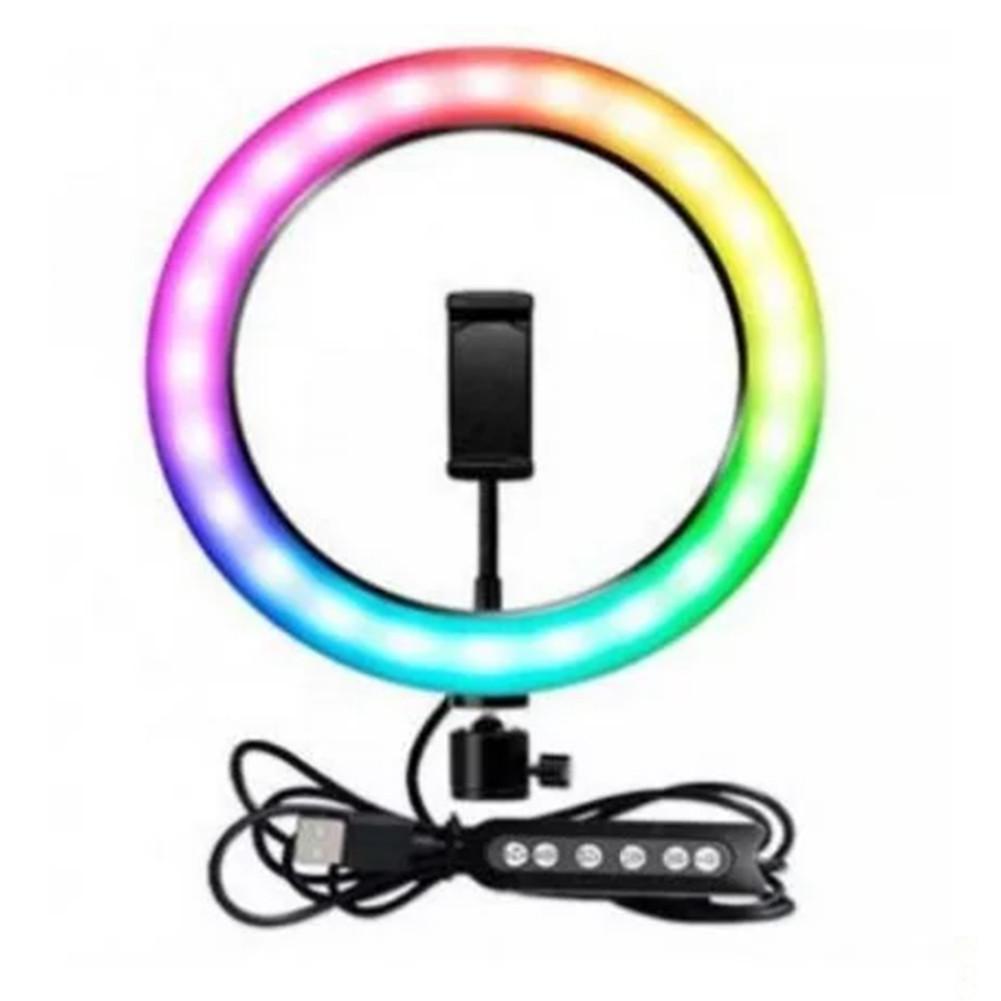 Кольцевая LED лампа для селфи MJ20 RGB