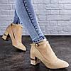 Женские туфли на каблуке бежевые Bruno 2086 (38 размер-24,5 см)
