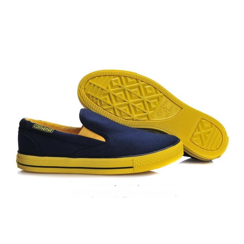 Converse All Star Slip On в сине-желтом цвете